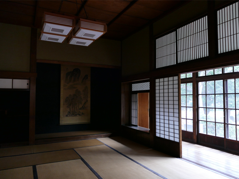 旧永山邸表座敷の内観